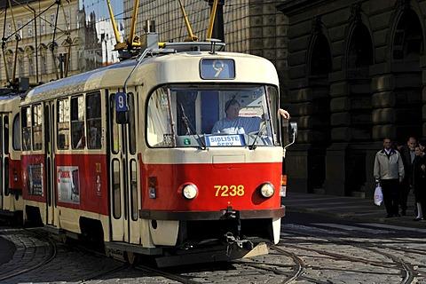 Tram, Prague, Bohemia, Czech Republic, Europe