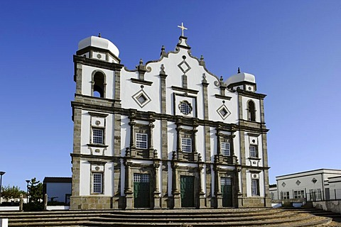 Matriz church in Santa Cruz on the island of Flores, Azores, Portugal