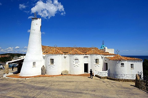 Stella Maris church in Porto Cervo, Costa Smeralda, Olbia-Tempio Province, Sardinia, Italy, Europe
