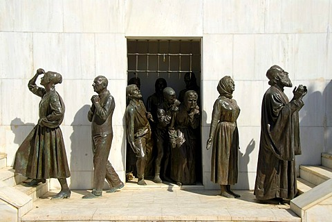 Statues of people going from captivity to freedom, Liberty Monument, Podokataro Bastion, Nicosia, Lefkosia, Southern Cyprus, Republic of Cyprus, Mediterranean Sea, Europe