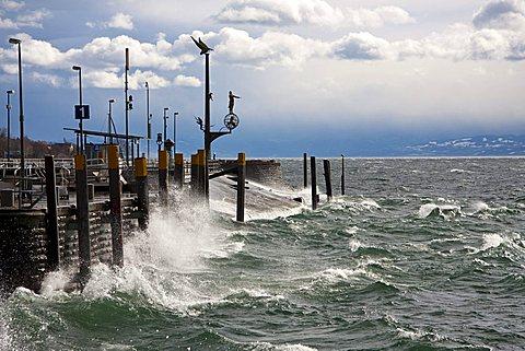 Hurricane Quinten in Meersburg, Lake Constance, Bodenseekreis, Baden-Wuerttemberg, Germany