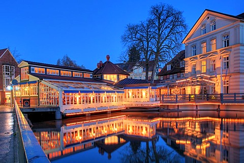 Hotel Bergstroem, known as the Three Kings Hotel in the telenovela Red Roses, Lueneburg, Lower Saxony, Germany, Europe