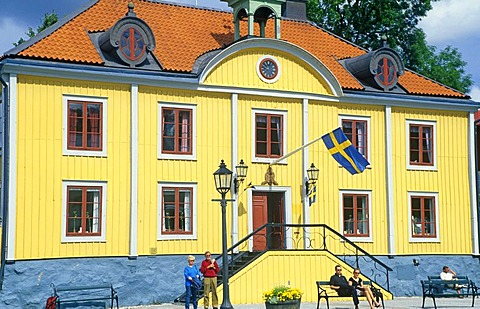 Town Hall of Mariefred, Southern Sweden, Scandinavia, Europe