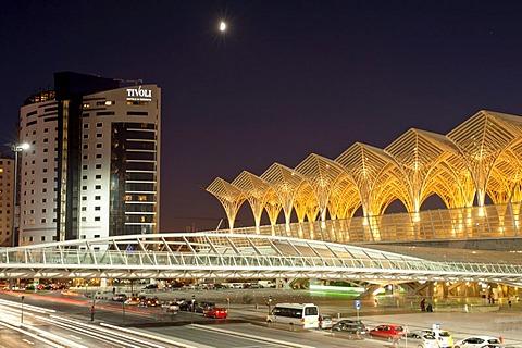 Tivoli Hotel and Gare do Oriente, Oriente Railway Station, Lisbon, Portugal, Europe