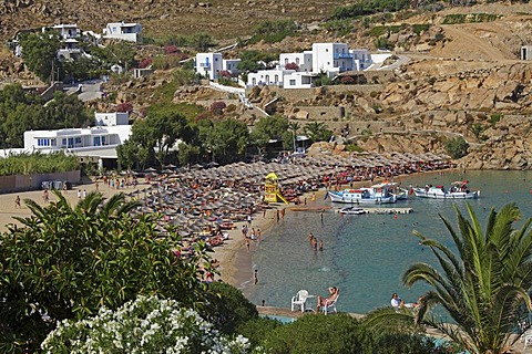 Super Paradise Beach, Mykonos island, Cyclades, Aegean Sea, Greece, Europe