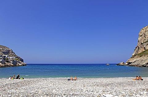 Pebble beach of Lionas, Naxos island, Cyclades, Aegean Sea, Greece, Europe