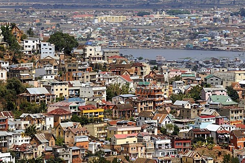 Typical district of the capital Antananarivo or Tana, formerly Tananarive, Madagascar, Africa