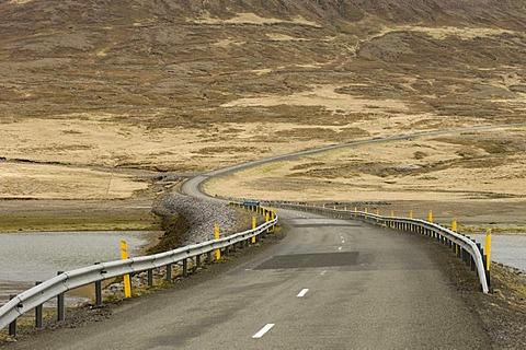 Road, Grundarfjordur, Snaefellsnes Peninsula, Iceland, Europe