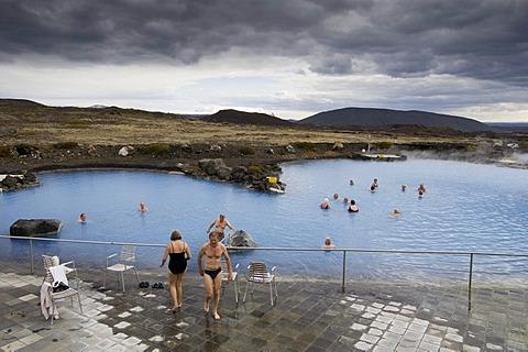 Geothermal hot spring, Reykjahlid, Iceland, Europe