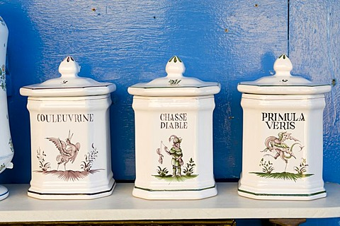 Faience pottery, Moustiers-Sainte-Marie, Provence, France, Europe