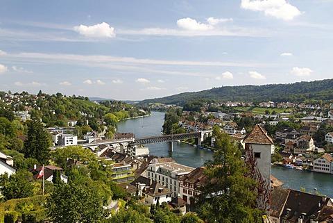 Munot overlooking the Rhine, city of Schaffhausen, Switzerland, Europe