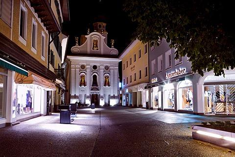 San Candido at night, Trentino-Alto Adige, Italy, Europe