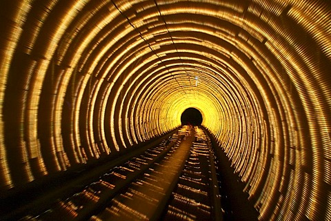 Bund Sightseeing Tunnel, Pudong, Shanghai, China, Asia - 832-135858