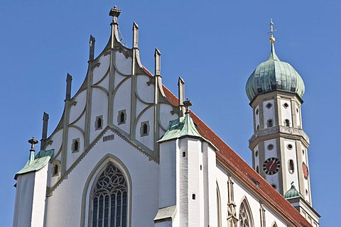 Church of St. Ulrich and Afra, Basilica, late Gothic, Roman Catholic, Augsburg, Bavaria, Germany, Europe