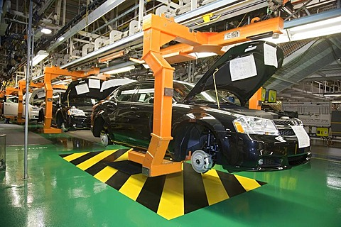 The 2011 Dodge Avenger on the assembly line at Chrysler's Sterling Heights Assembly Plant which plant had been scheduled to close following Chrysler's 2009 bankruptcy, but the company now says it will bring new car models and new jobs to the plant, Sterli