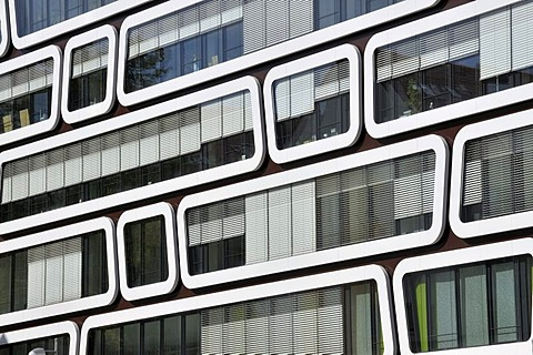 The Z-UP office building developed for Reader's Digest Germany, Das Beste GmbH publishing house, by Professor Kergassner, Stuttgart, Baden-Wuerttemberg, Germany, Europe