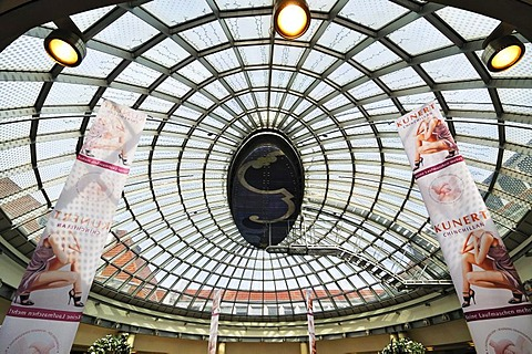 Light dome in a department store, Munich, Bavaria, Germany, Europe