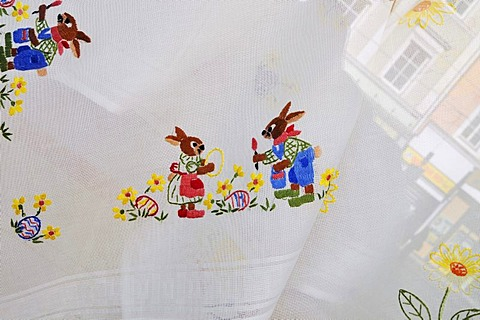 Embroidery, Easter motive, Innsbruck, Tyrol, Austria, Europe - 832-136700