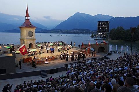 Festival on common ground, Daellebach Kari - the Musical, Thun Festival, Thun, canton of Bern, Switzerland, Europe