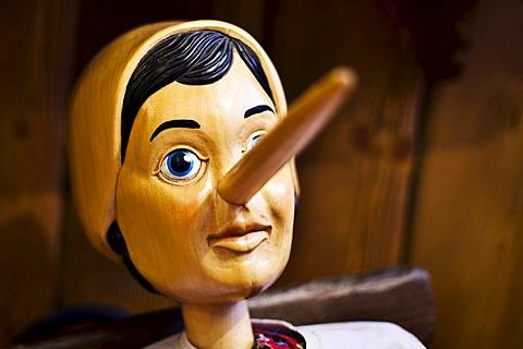 Pinocchio figure made of wood