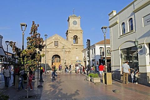 San Augustine, church, shopping street, La Serena, Norte Chico, northern Chile, Chile, South America
