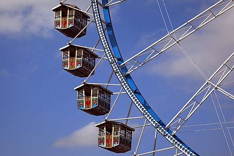 Detail, ferris wheel, Oktoberfest Munich, Theresienwiese, Munich, Bavaria, Germany, Europe - 832-137559