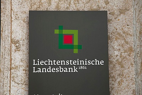 Headquarters of the Liechtensteinische Landesbank AG, LLB, in Vaduz, Principality of Liechtenstein, Europe