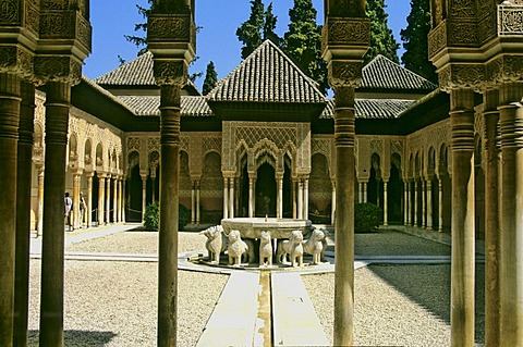 Patio de los Leones, Alhambra, Granada, Spain, Europe