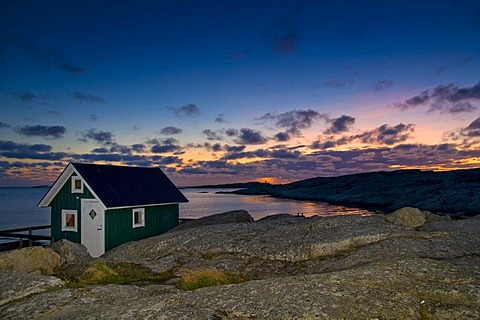 Wooden hut, Smoegen, Sweden, Scandinavia, Europe