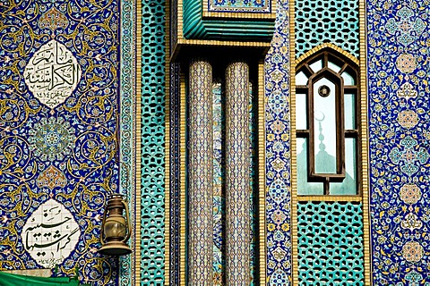 Facade of a mosque, Dubai, United Arab Emirates, Middle East