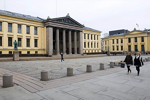 University with assembly hall, Aula, Oslo, Norway, Europe