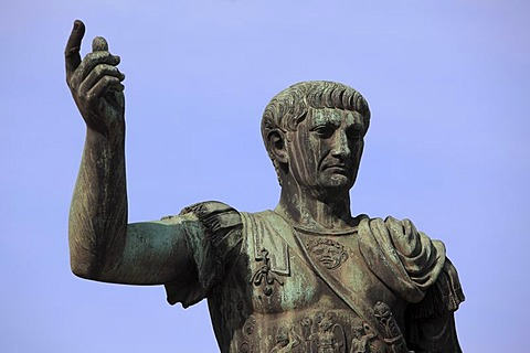 Monument of the Roman Emperor Trajan, Rome, Italy, Europe