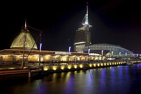 Klimahaus science center, Sail City, Mediterraneo, Old Harbour, Havenwelten district, Bremerhaven, Lower Saxony, Germany, Europe