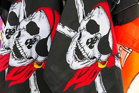 Pirate skull flags, souvenirs, Hanseatic City of Hamburg, Germany, Europe