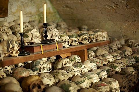 Ossuary, Hallstatt, Salzkammergut, Upper Austria, Europe