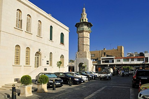 Historic minaret, historic town of Damascus, Unesco World Heritage Site, Syria, Middle East, West Asia