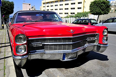 Old Cadillac car in the historic centre of Beirut, Lebanon, Middle East, Asia