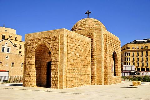 Mausoleum of Notre-Dame al Nouriye, Place d'Etoile, Beirut, Lebanon, Middle East, Orient