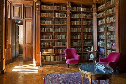 Helikon Library, reading room, Festetics Palace in Kesztehely, Hungary, Europe