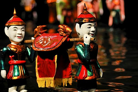 Puppets, Thang Long Water Puppet Theatre, Hanoi, North Vietnam, Vietnam, Southeast Asia