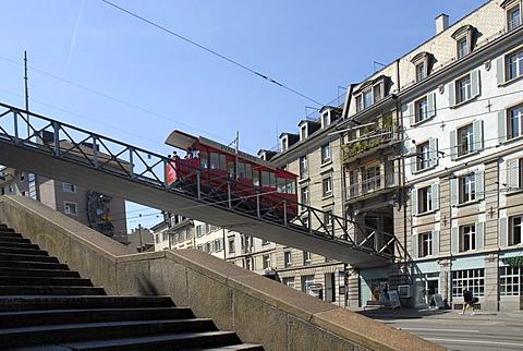 Polybahn, funicular railway, Zurich, Switzerland, Europe