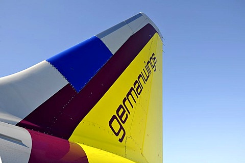 Tail of an Airbus A321-100 200 German Wings