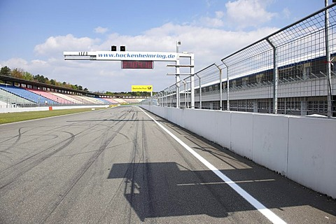 Motodrom, start and finish straight, Hockenheim Ring, Baden-Wuerttemberg, Germany, Europe