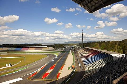Motodrom, southern stand, Hockenheim Ring, Baden-Wuerttemberg, Germany, Europe
