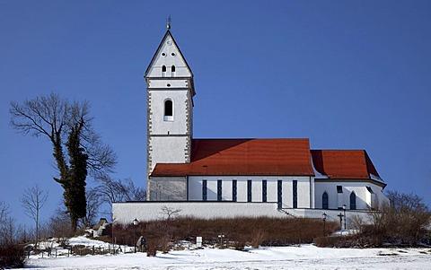 Pilgrimage Church of St John the Baptist on Bussen Mountain, Baden-Wuerttemberg, Germany, Europe
