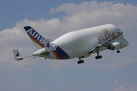 Airbus Beluga aeroplane, Hamburg, Germany, Europe