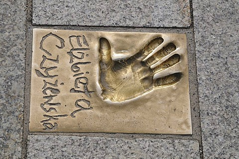 Handprint, walk of fame, Miedzyzdroje, Poland, Europe
