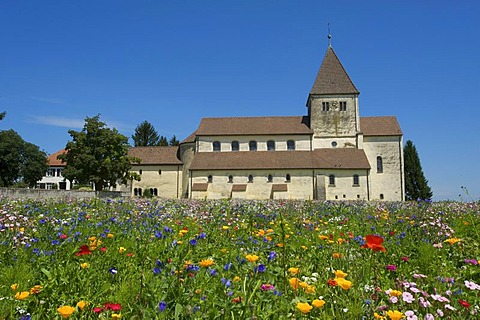 Georgskirche church in Oberzell, Reichenau island, Lake Constance, Baden-Wuerttemberg, Germany, Europe