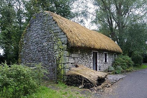 Thatched farmhouse, Bunratty Folk Park, Ennis, Shannon Region, Ireland, Europe