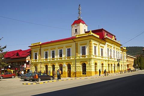 City hall, Gura Humorului, E58, Romania, Europe